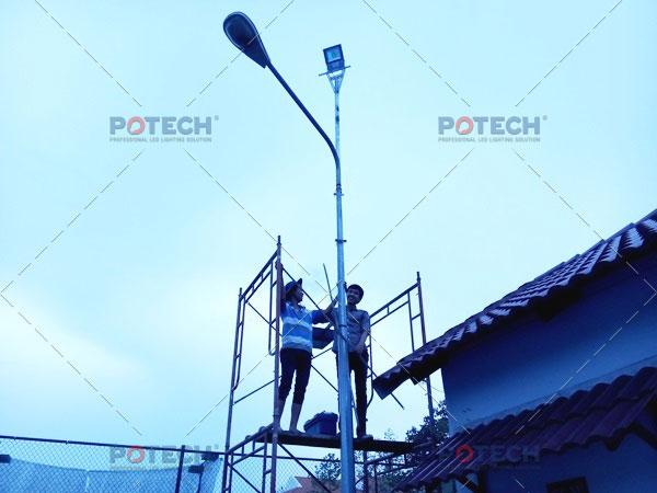 Lắp đặt đèn đường LED
