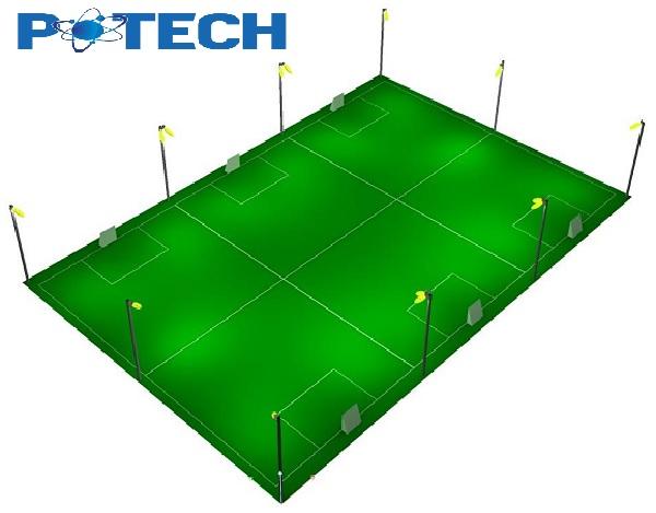 Thiết kế chiếu sáng sân bóng