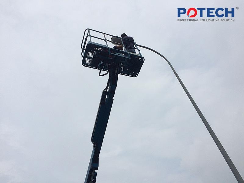 Thi công lắp đặt đèn LED - POTECH