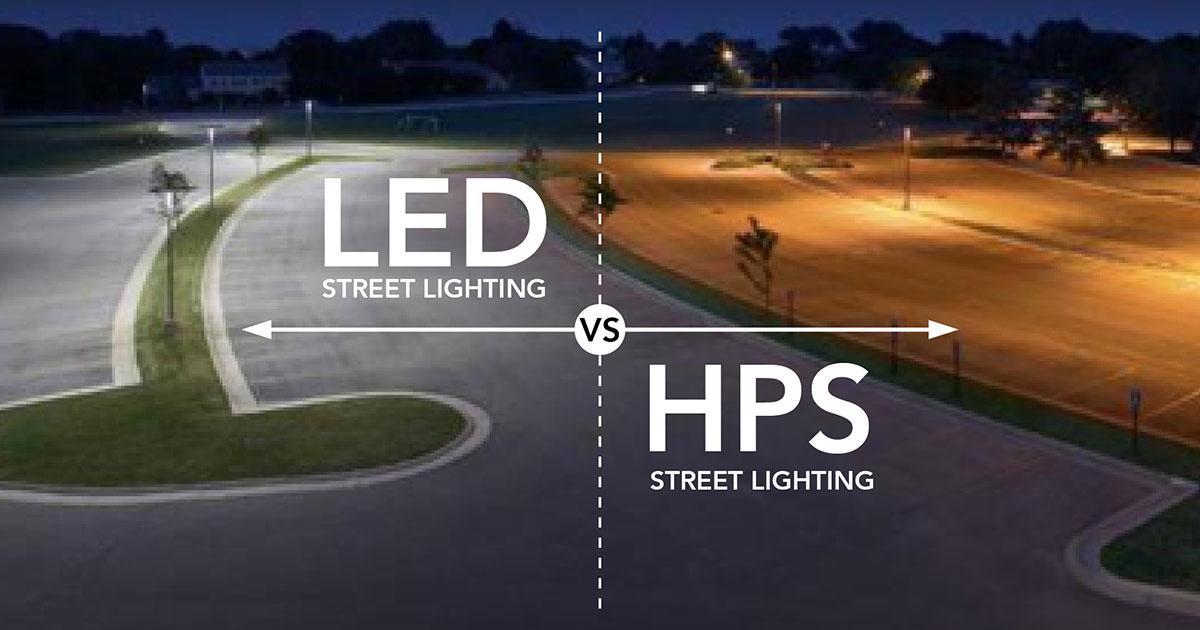 So sánh Đèn LED và Đèn cao áp Sodium / Natri (HPS)