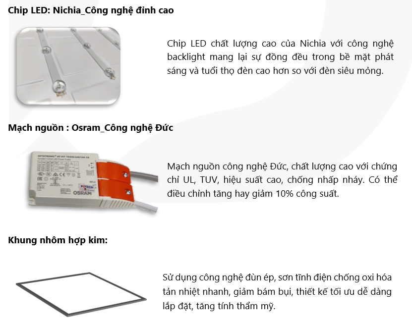 Đèn LED Panel 60W - 1200x600 1