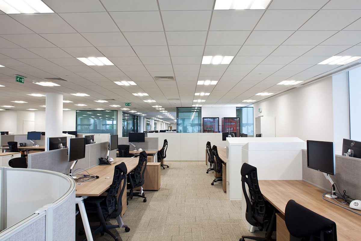 Ứng dụng chiếu sáng nhân tạo cho văn phòng