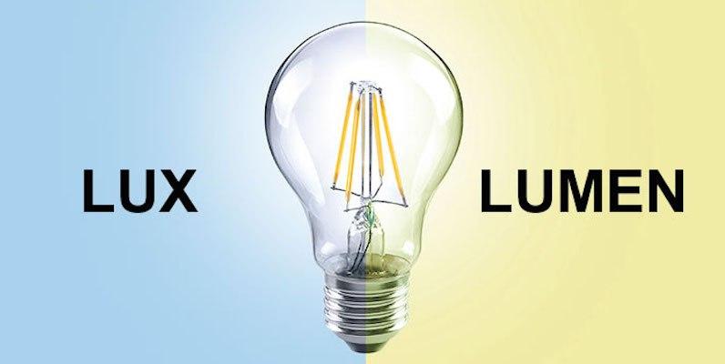 Sự khác biệt giữa Lux, Lumen và Watt