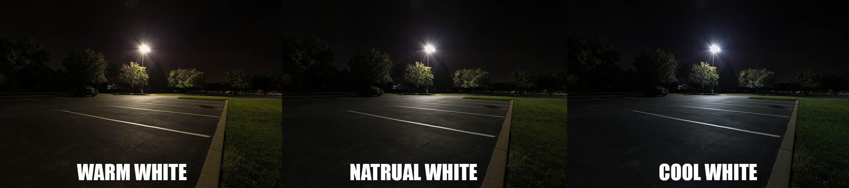 Màu sắc ánh sáng tại bãi đỗ xe