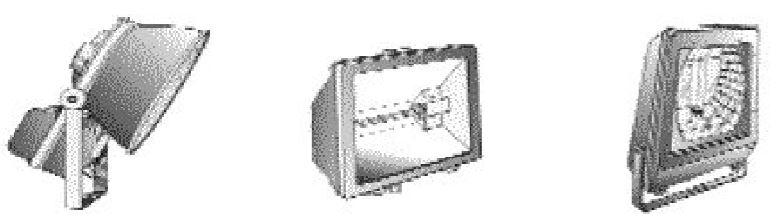 Bộ đèn pha có thể lắp đặt theo nhiều kiểu khác nhau dùng để hướng ánh sáng theo những hướng xác định