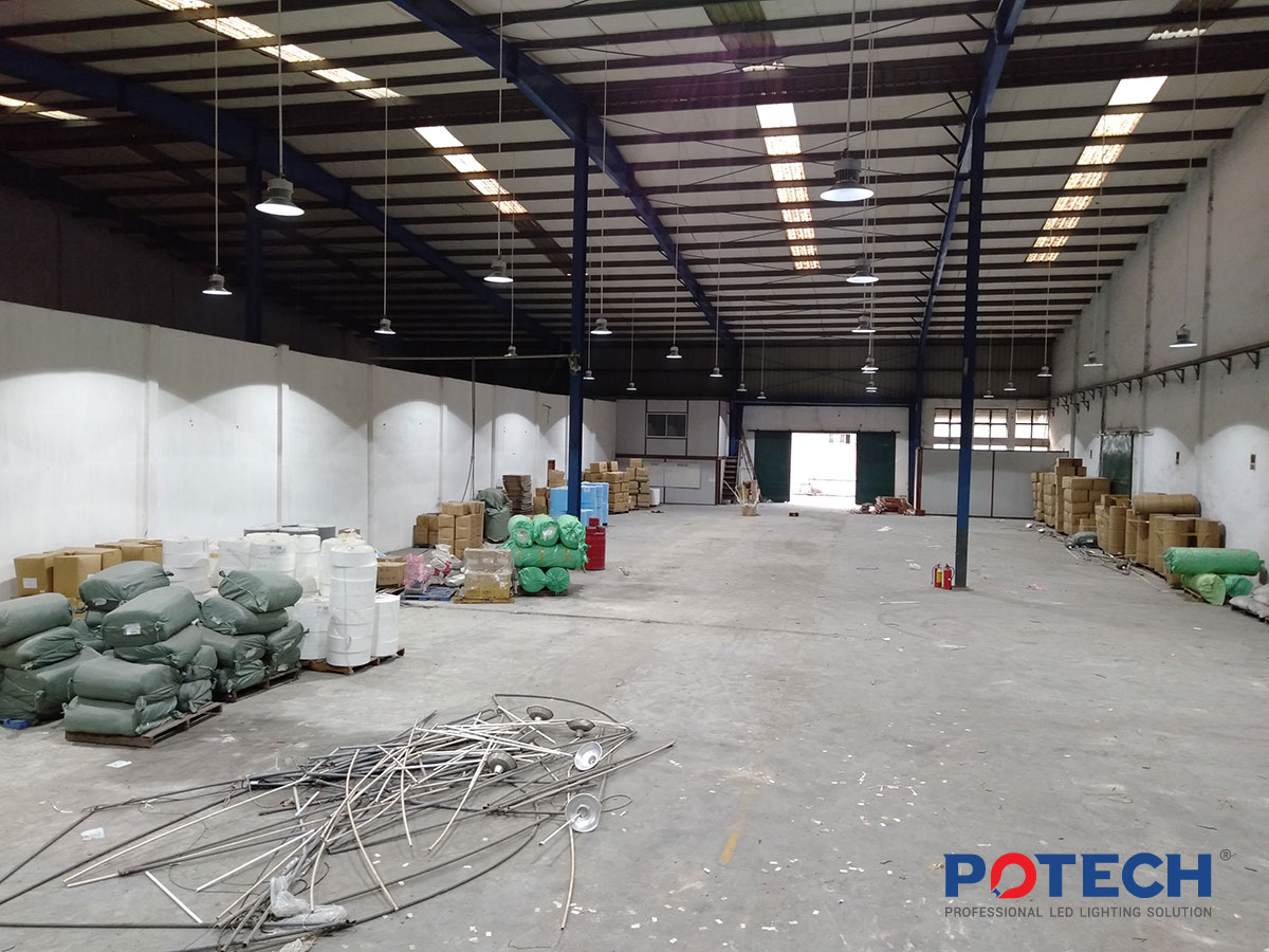 Dự án đèn LED nhà xưởng - Công ty cổ phẩn Bông Bạch Tuyết