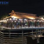Dự án đèn pha LED chiếu sáng quán cafe Gia Nguyên
