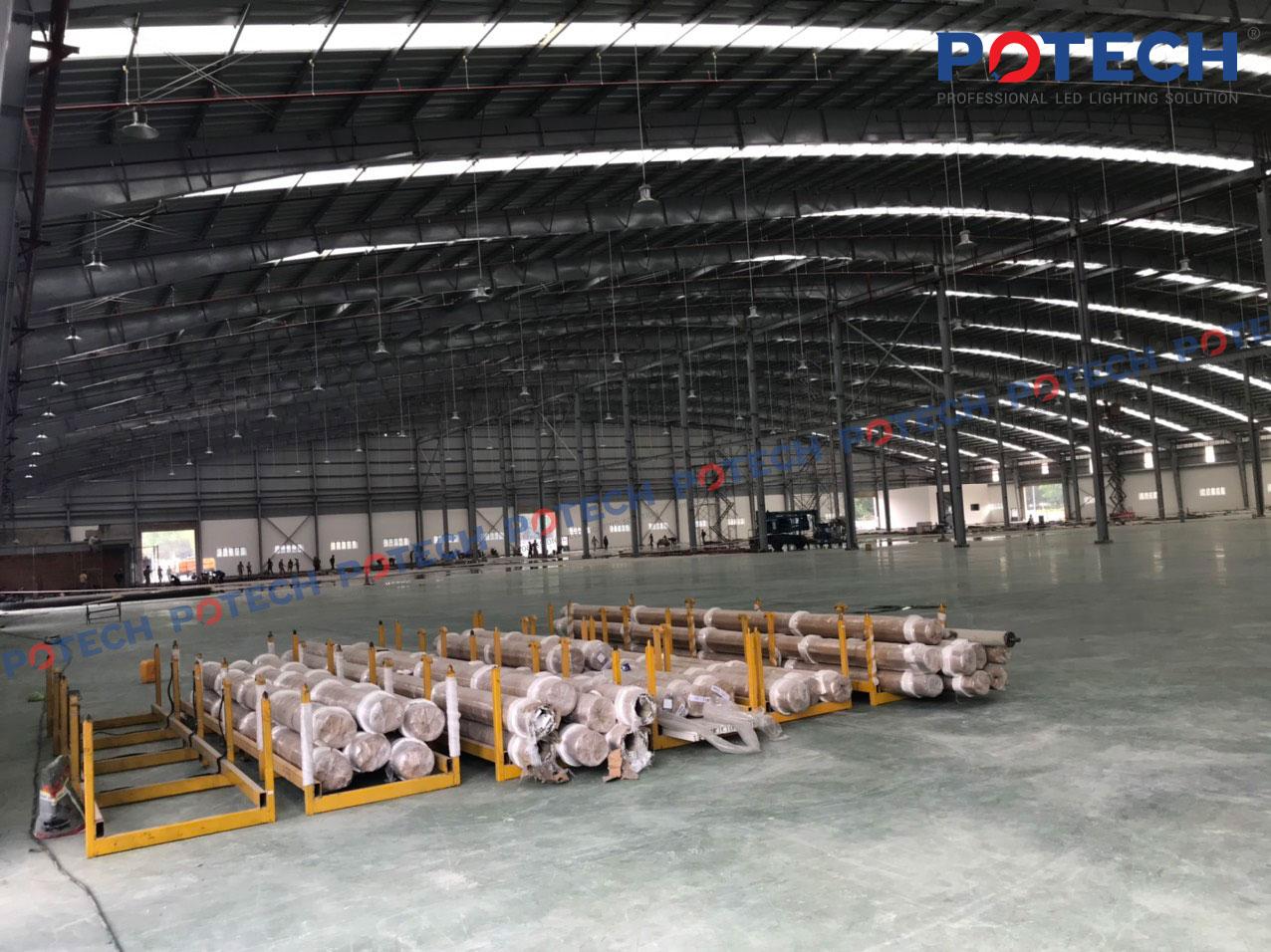 Đèn LED nhà xưởng, đèn pha LED POTECH - Nhà máy nhựa Tín An