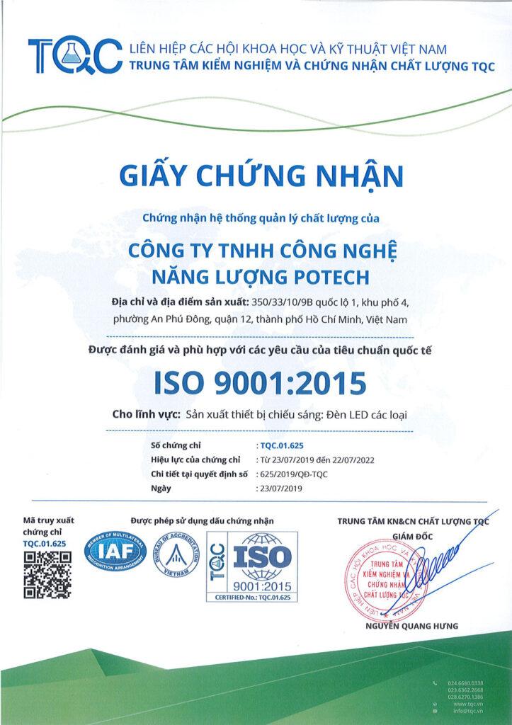 Giấy chứng nhận ISO POTECH