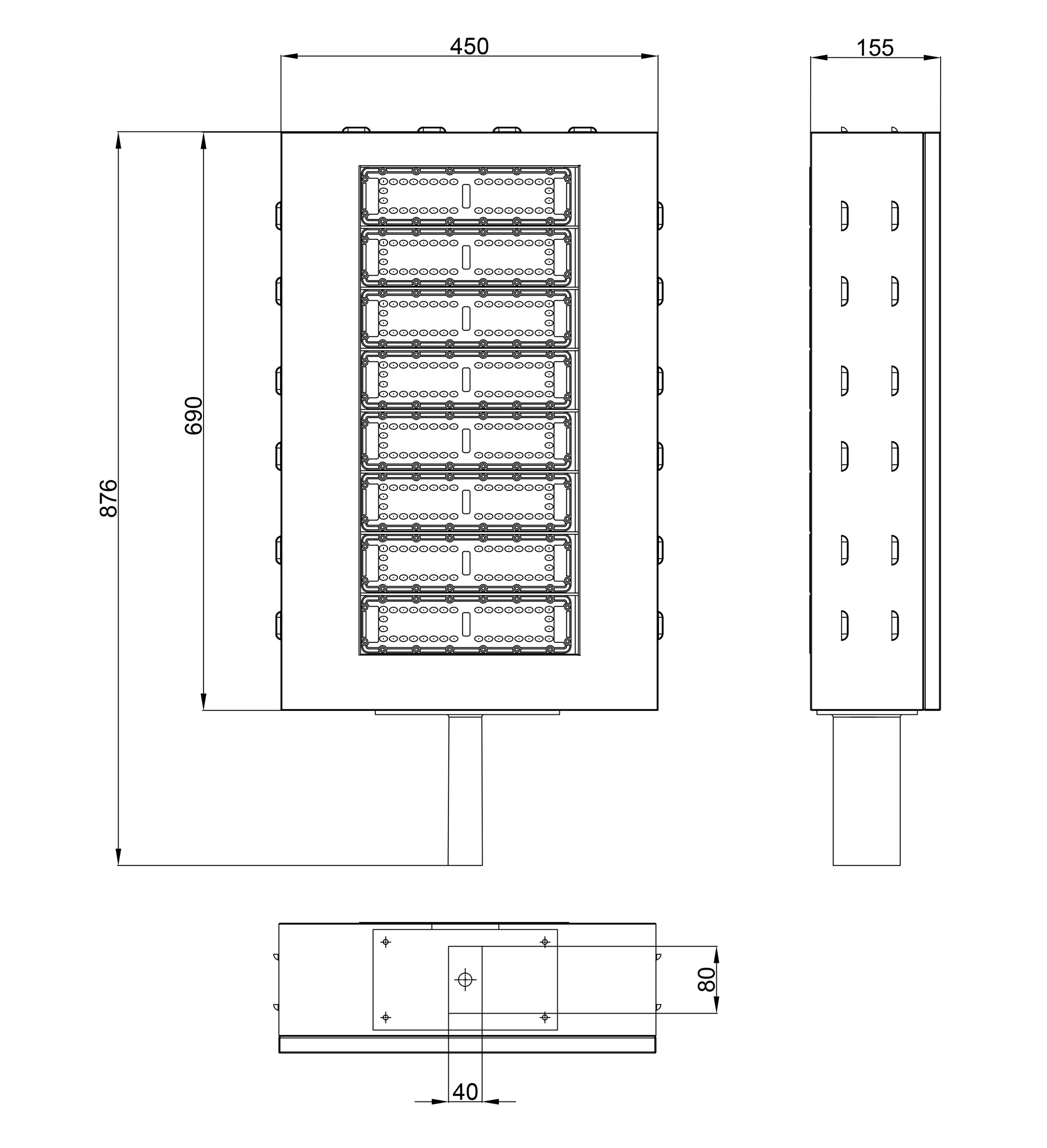 Đèn LED Sân Tennis 400W 3