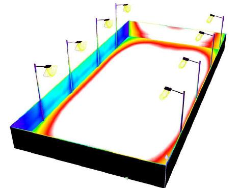 Hướng dẫn lắp đặt đèn LED sân tenis 400W POTECH 3