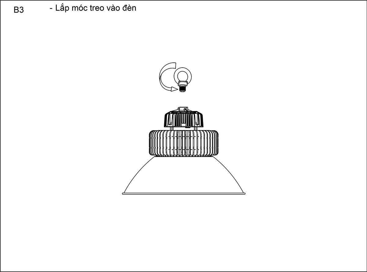 Lắp đặt đèn HBL2-100