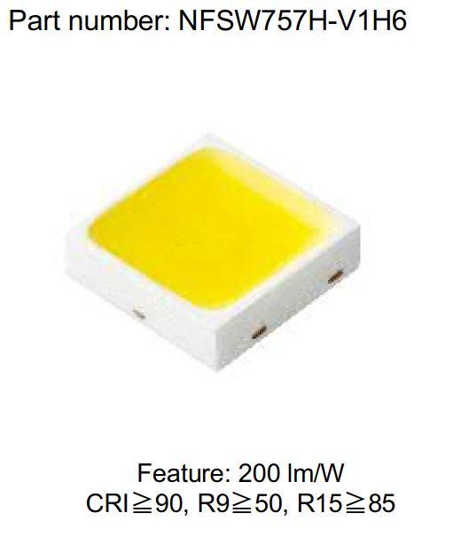 Chip LED công nghệ phosphor tiên tiến của NICHIA với hiệu suất và độ hoàn màu cao nhất trong ngành