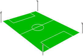 Sân bóng đá bố trí cột đèn 4 góc